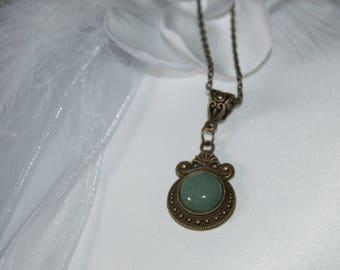 Art Nouveau Necklace with a fine stone.