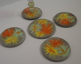 Dessous de verre en béton - collection été - création originale - nouvelle collection de saison -