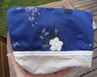 Japanese fabric makeup bag