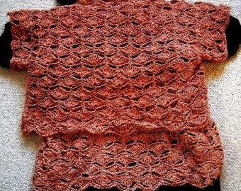Tank top + rust brown color sweater