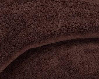 Brown 170cmx150cm cozy fleece fabric