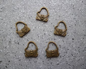 5 bags of 14 mm bronze metal charms