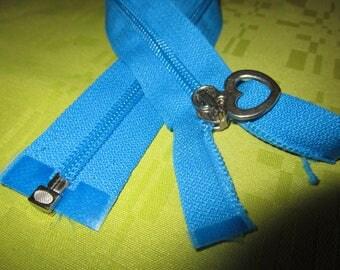 separable turquoise nylon closure