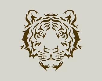 Lion stencil. Lion head.  (Ref 538) adhesive vinyl stencil
