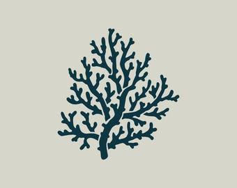 Coral. Coral stencil. Coral design.  (ref 346)