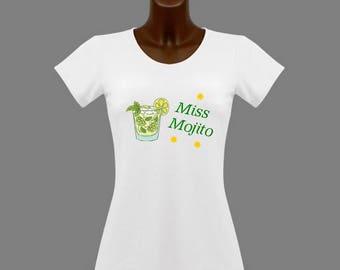 T-shirt women white humor Miss Mojito