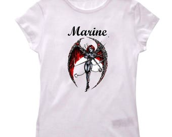 Personalized with name Gothic girl t-shirt