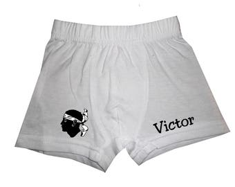 Boxer full-bodied white boy personalized with name