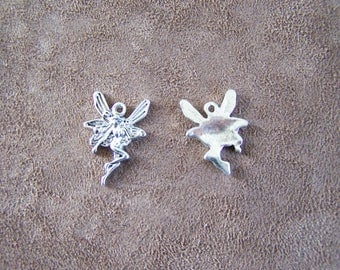 set of 20 charms / silver tone ELF - fairy PENDANT