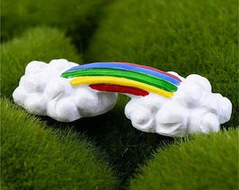 1 cute little Rainbow and cloud resin 60 * 17mm approx.