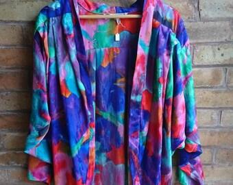 Vintage multicoloured blouse jacket