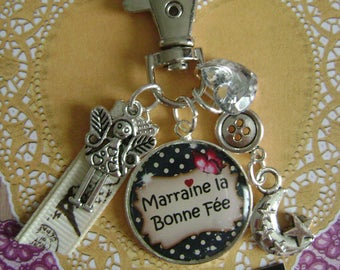 "Keychain / bag charm ""Godmother"""