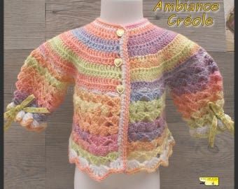 October challenge: Creole atmosphere: multicolor crochet top