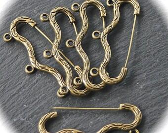 x5 supports de broche cintre 3trous bronze 46mm