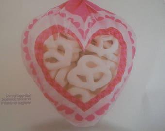 heart shaped pink bag