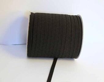 Flat 7mm black elastic x 5 meters - 001739