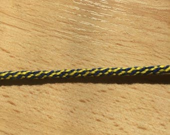Round blue and yellow Friendship Bracelet