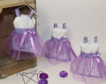 Dress worn sweets purple Tulle