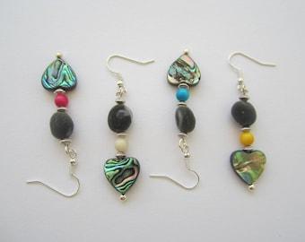 Zanzibar seed earrings, Ivory Pearl and leather