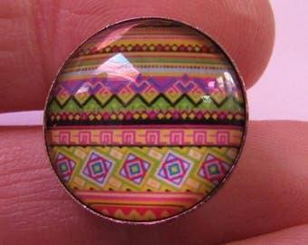 Snap 18mm Diameter Striped Theme