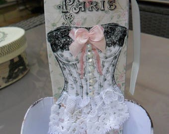 Corset Lilou bookmark collection & Shabby chic pouch