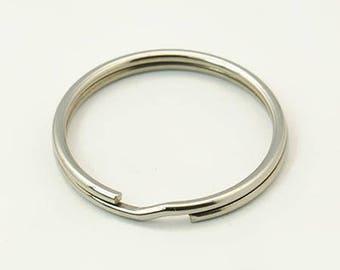 7 key ring 25 mm stainless steel rings
