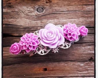Purple shades, accessory flower hair clip wedding, vintage wedding hair