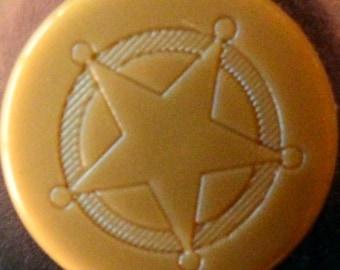 "10 snaps engraved KAM ""Sheriff Star"" gold shiny"