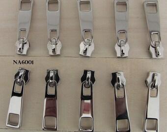 10 sliders massive silver 6001 No. 5 Metal Special closure bag