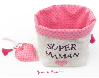 Basket and her Keychain full of sweetness for mothers day