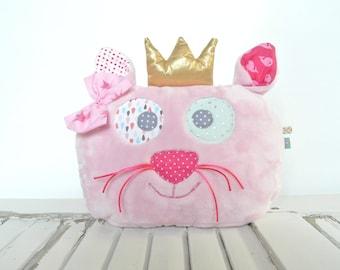Pillow cat p' little Princess pink