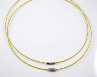 Set of 2 laps neck wired rigid yellow 46cm