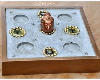 Zen attitude Buddha candle/candle holder