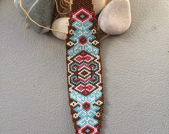 original shape bracelet woven with miyuki beads