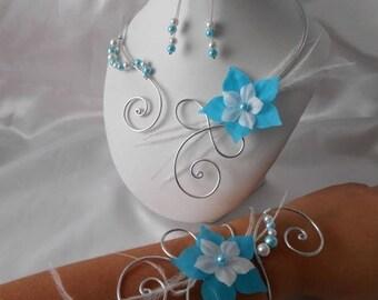 Wedding Austria 3 piece necklace set, bracelet & earrings