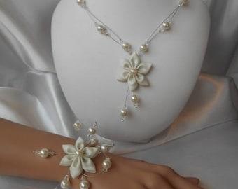 "Set 2 piece ""Alex"" wedding necklace & bracelet"