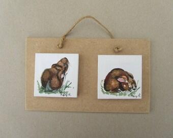 miniature: two rabbits