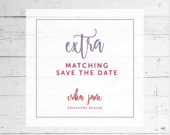Matching Save the Date Announcement | Printable