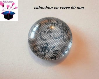 1 cabochon clear 20mm theme lace