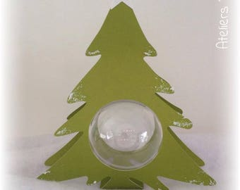 Christmas tree Christmas 25 cm + ball transparent 10cm