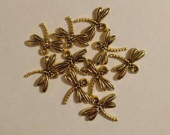 Charm shape Dragonfly charms