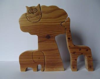 "Toy wooden puzzle for children ""Savannah"""