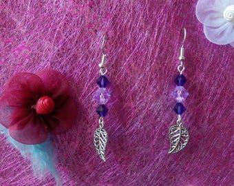 Earrings + Necklace shade of purple