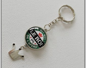 Key man, personalized Keychain, glass cabochon, the King of the cocktails