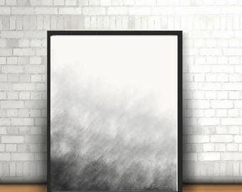 Printable art, Black printable art, Printable art cloudy