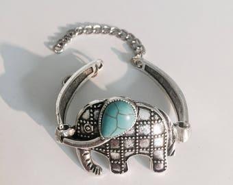 Elephant Turquoise Charm Bracelet