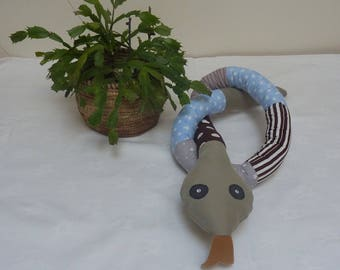 Snake made of fabric and washable machine