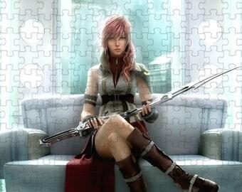 Final Fantasy XIII Lightning Clair Ferron 3 A4 Puzzle - 120 Pieces