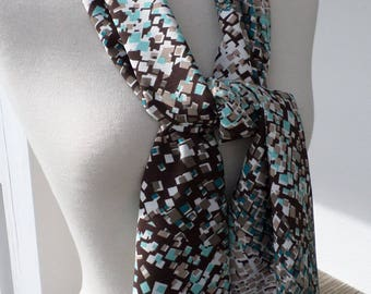 Shawl woman chocolate crepe pleasant wedding