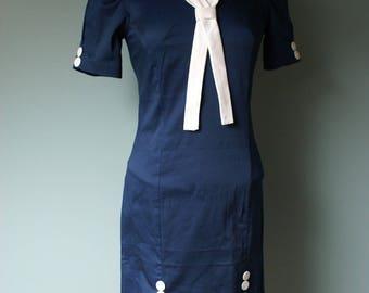 Pin up Rockabilly dress a nautical look